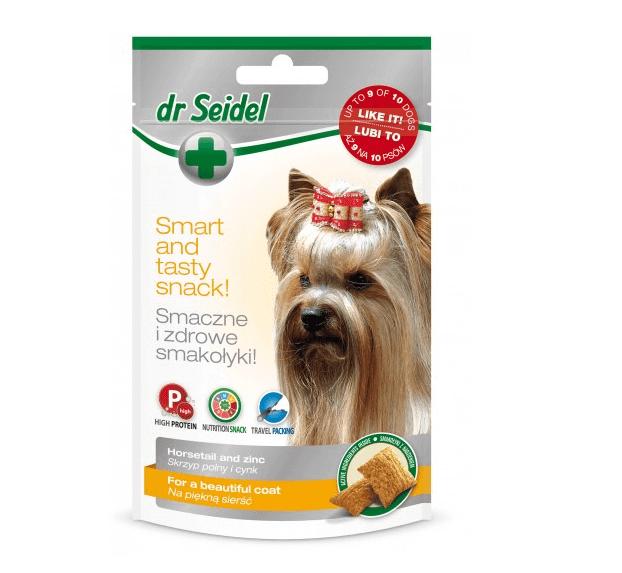 Dr Seidel Przysmaki dla psa na piękną sierść 90g