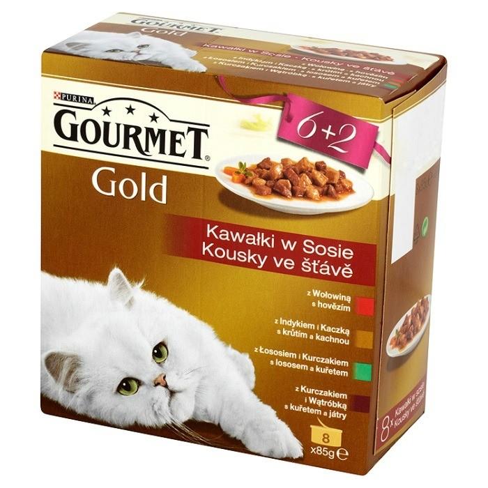 Gourmet Gold Kawałki w sosie 8x85g