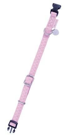 Zolux Obroża regulowana Mac Leather 20mm różowa