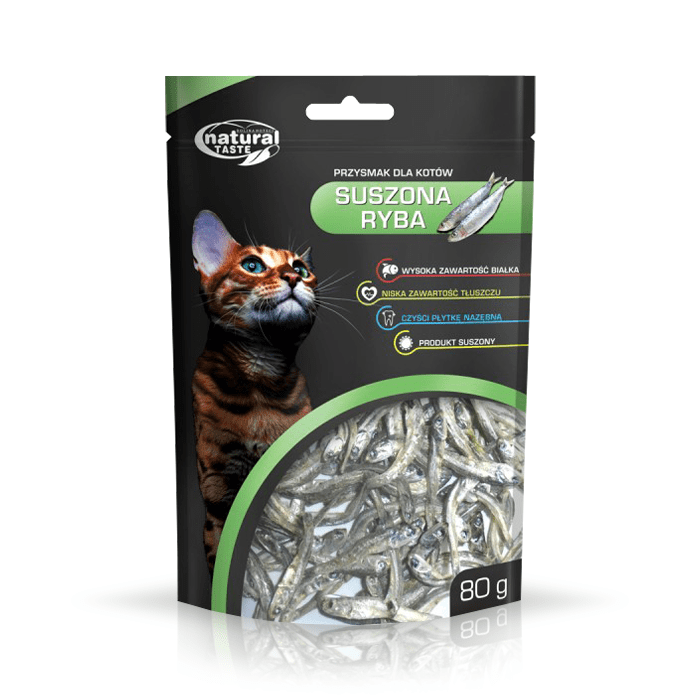 Natural Taste Cat suszona ryba 80g