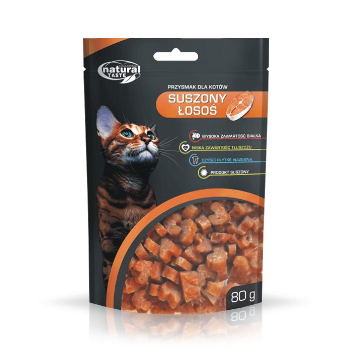 Natural Taste Cat suszony łosoś 80g