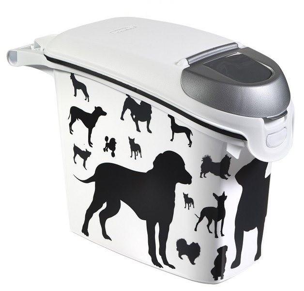 Curver Pojemnik na psią karmę lub żwirek czarno szary 6kg