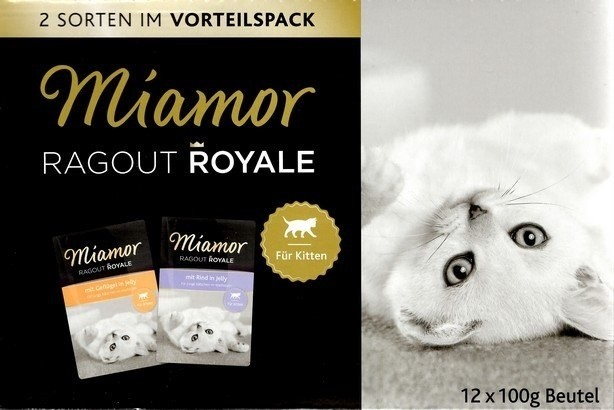 Miamor Ragout Royale Kitten Mix w galaretce 12x100g