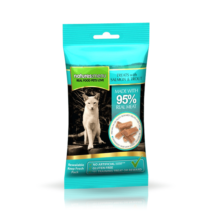 Natures Menu przysmak dla kota łosoś pstrąg 60g