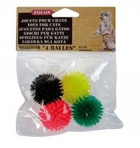 Zolux Piłki dla kota z wypustkami - komplet 4szt.