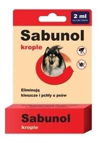 Sabunol Krople na pchły i kleszcze dla średnich psów 2ml