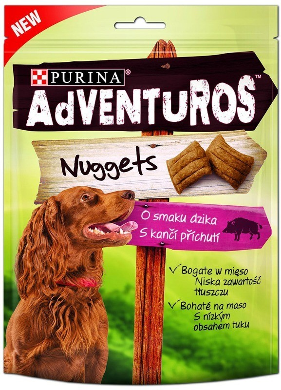Purina Adventuros Nuggets o smaku dzika 90g