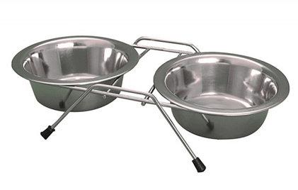Yarro miski metalowe na stojaku 21cm