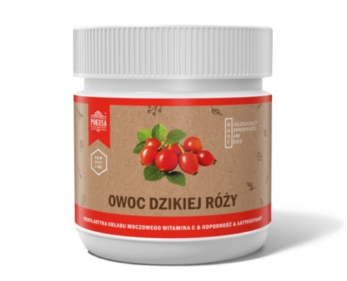 Pokusa RawDietLine Owoc dzikiej róży słoik 200g