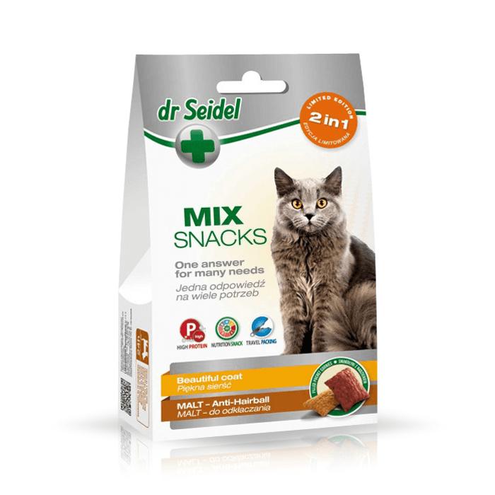 Dr Seidel Smakołyki dla kotów 2w1 piękna sierść i odkłaczanie 50g