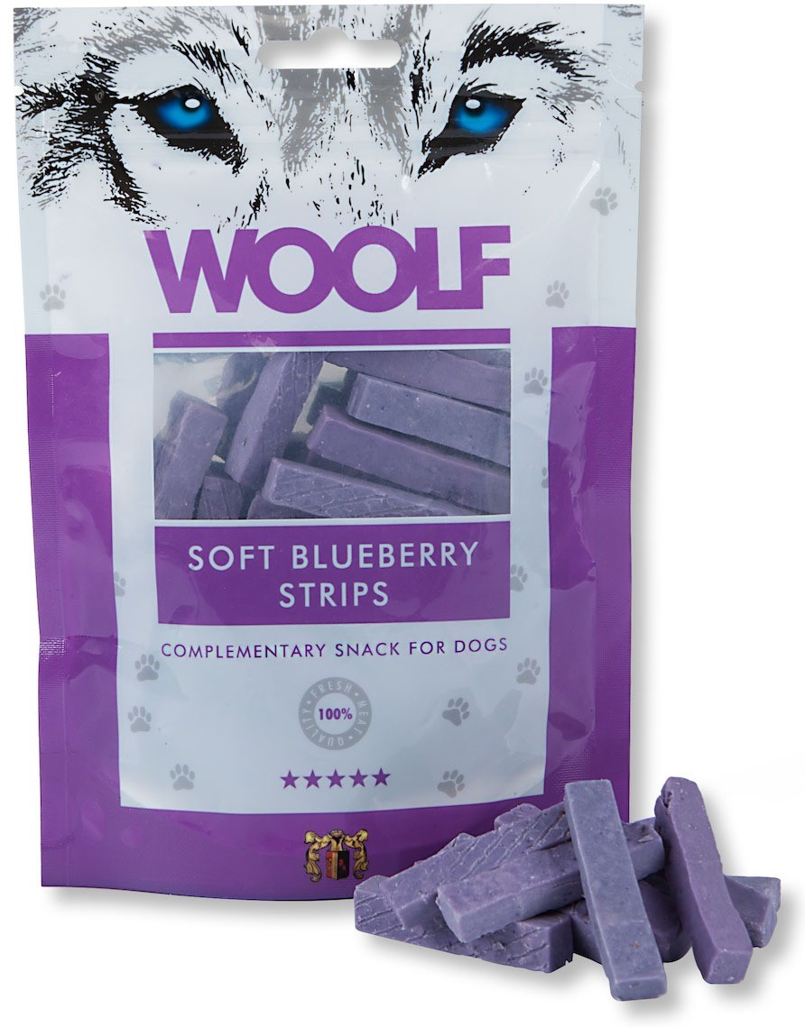 Woolf Przysmak Soft Blueberry Strips 100g