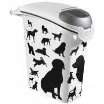 Curver Pet Life pojemnik na karmę z psem czarno szary 10kg