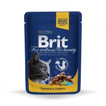 Brit Premium Cat kurczak i indyk 100g