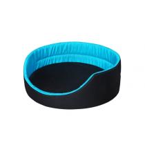 Chaba legowisko czarno- niebieskie 36x29x13cm