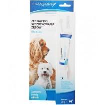 Francodex Zestaw do szczotkowania zębów pasta + szczoteczka
