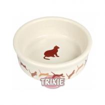 Trixie miska ceramiczna dla kota beżowa 0,25l