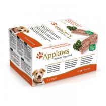Applaws Paté Pasztet Multipak indyk, wołowina i łosoś z warzywami 5x150g