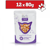 Brit Care Cat Pouch w sosie Kitten 12 x 80g
