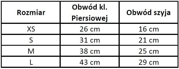 Chaba Szelki materiałowe lux standard czerwone [rozmiar M] 38cm/25cm