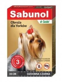 Sabunol Obroża czarna przeciw pchłom i kleszczom dla psa