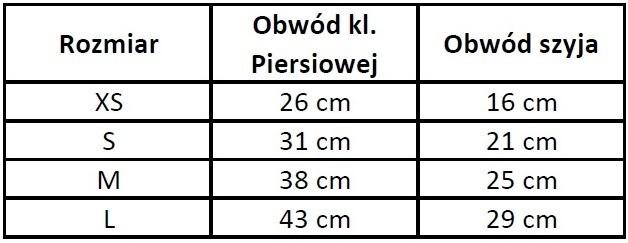 Chaba Szelki materiałowe lux czarne [rozmiar L] 43cm/29cm