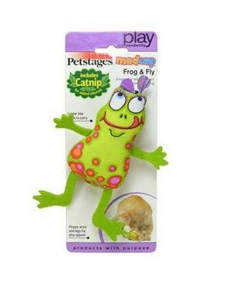 Petstages Pluszowa żaba z kocimiętką