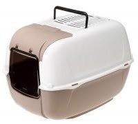 Ferplast Prima Cabrio Toaleta biało-brązowa 39,5 x 52,5 x 38cm