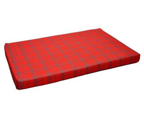 Chaba Legowisko Mata Standard czerwona krata [rozmiar 9] 120 x 80 x 4cm