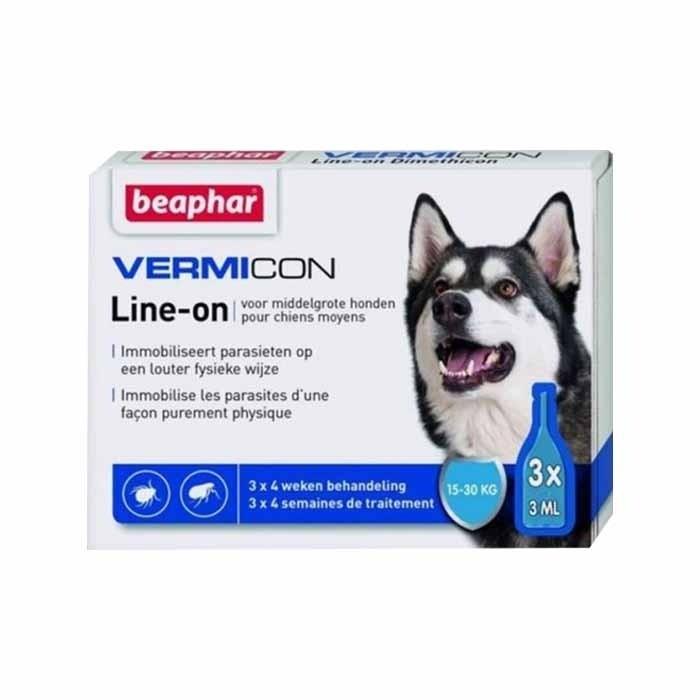 Beaphar Vermicon Line On krople na pchły i kleszcze dla psa