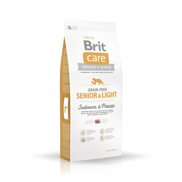 Brit Care Grain-free Senior Light Salmon & Potato
