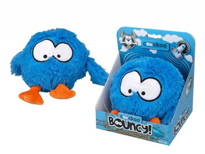Coockoo Bouncy interaktywna pluszowa zabawka niebieska 28 x 19cm
