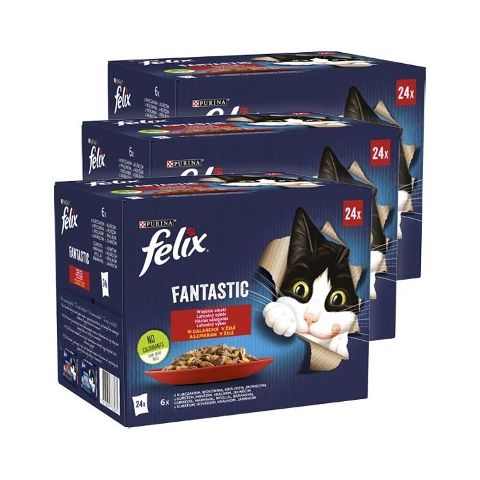 Felix Fantastic w galaretce Wiejskie Smaki 85g x 24 (multipak)
