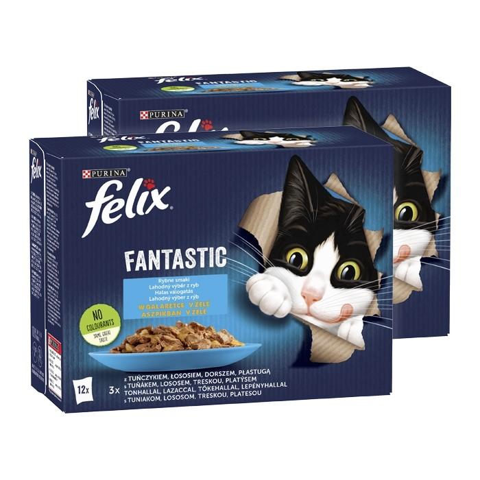 Felix Fantastic w galaretce Wybór Dań Rybnych 85g x 12 (multipak)