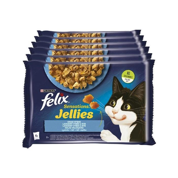 Felix Sensations w galaretce łosoś 85g x 4 (multipak)