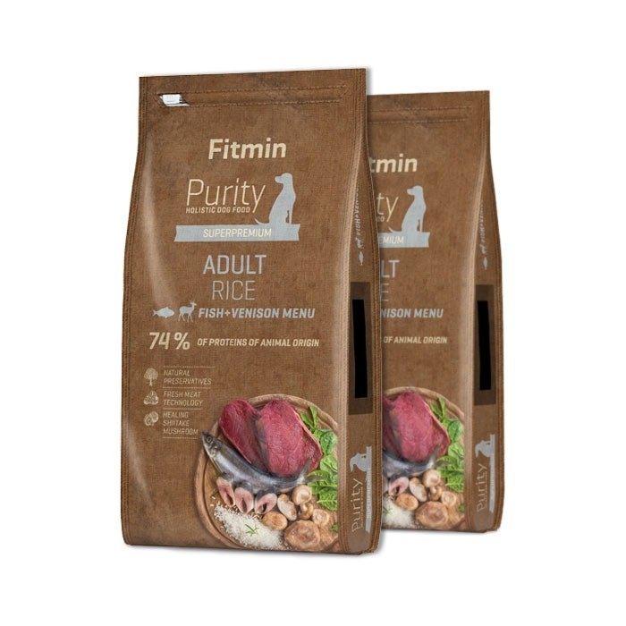 Fitmin Dog Purity Adult Rice, Fish & Venison