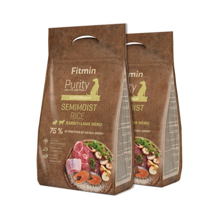 Fitmin Dog Purity Semimoist Rice, Rabbit & Lamb