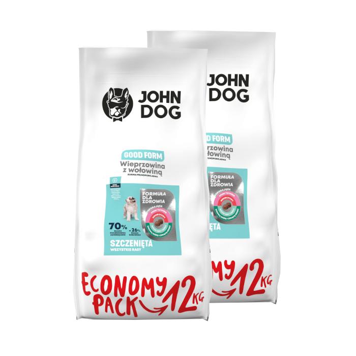 John Dog Good Form Puppy wieprzowina z wołowiną