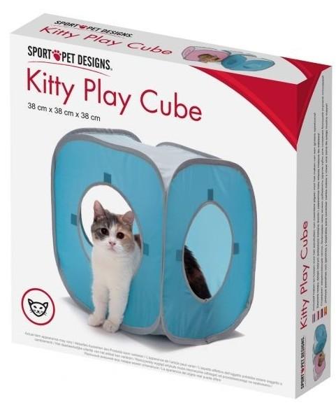 SportPet Kitty Play Cube Domek niebieski 38x38x38cm