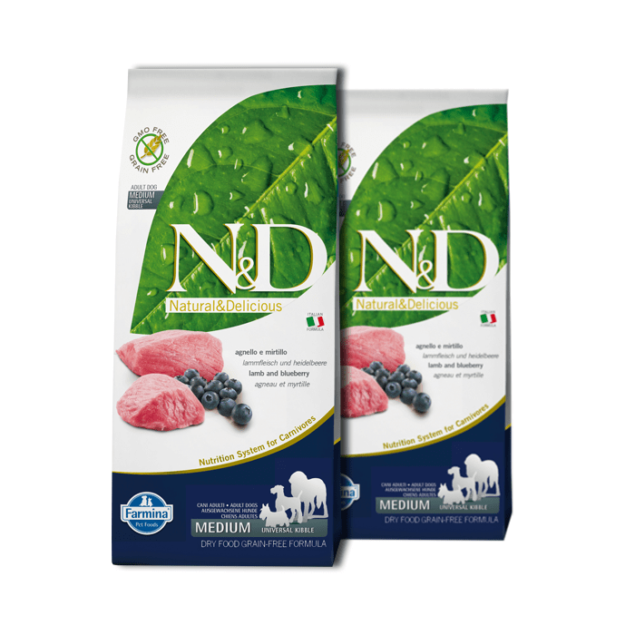 Farmina N&D GF Adult Dog Lamb & Blueberry