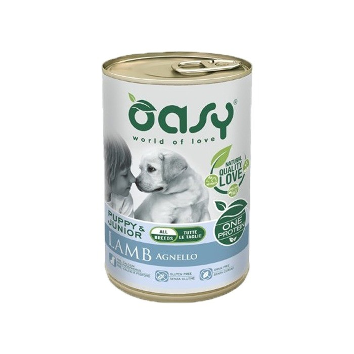Oasy One Protein Puppy puszka 400g x 4