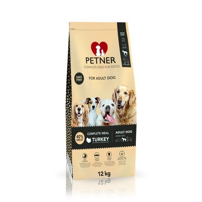 Petner Adult Dog Large Breeds z indykiem