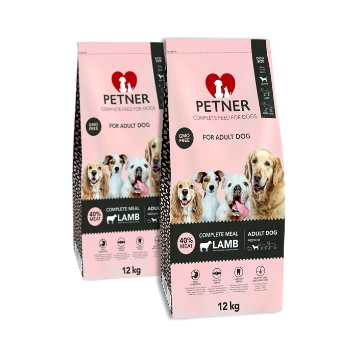 Petner Adult Dog Medium Breeds z jagnięciną