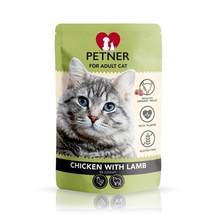 Petner Cat z kurczakiem w sosie 85g x 12