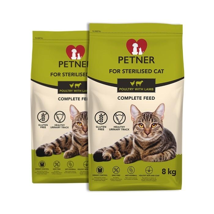 Petner Sterilised Cat z kurczakiem i jagnięciną