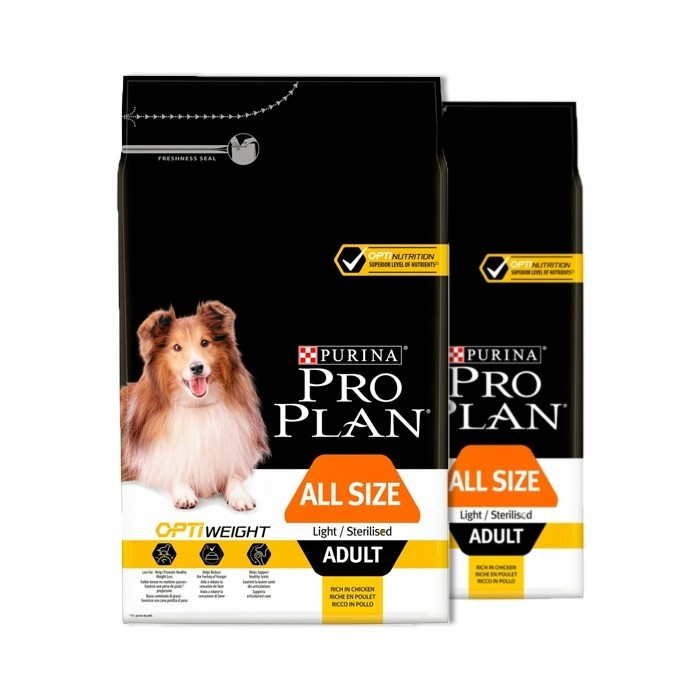 Pro Plan All Size Adult Light/Sterilised OptiWeight z kurczakiem