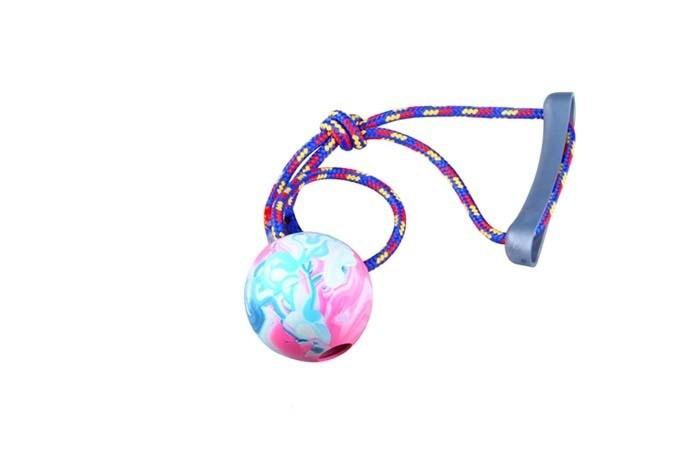 Sum Plast Piłka aportowa ze sznurkiem z gumy