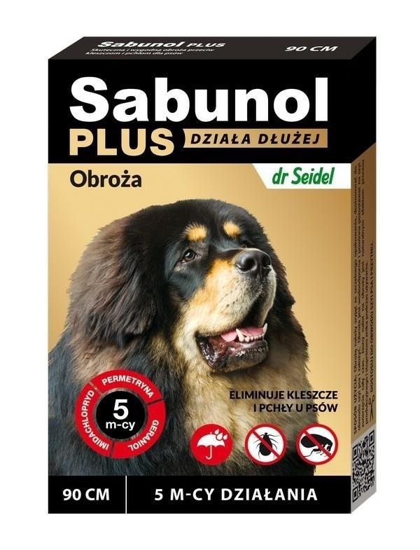 Sabunol Plus obroża przeciw kleszczom i pchłom psa