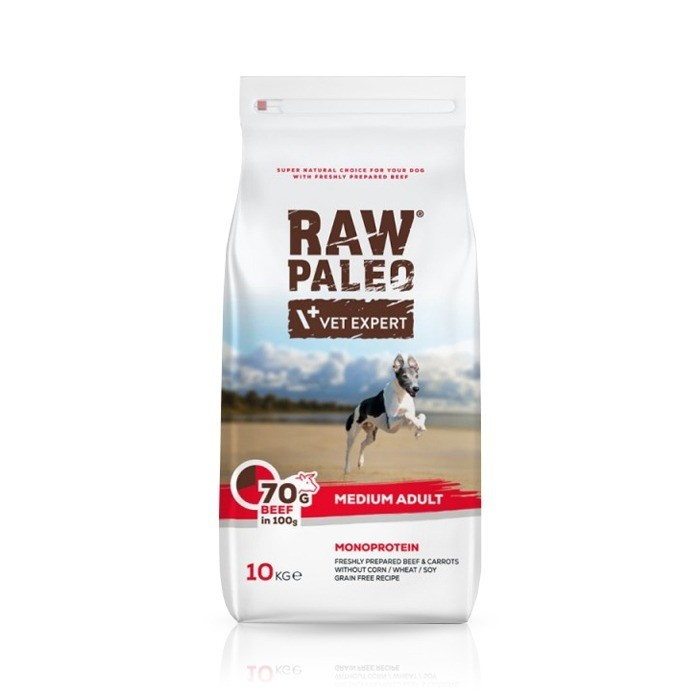 VetExpert Raw Paleo Adult Medium Beef