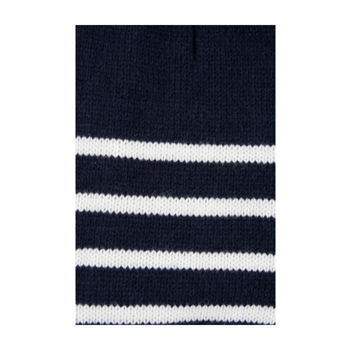 Zolux Sweterek z golfem w paski niebieski