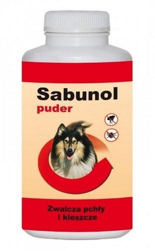 Preparaty lecznicze - Sabunol Puder na pchły i kleszcze 100g